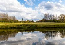 Golf course pond