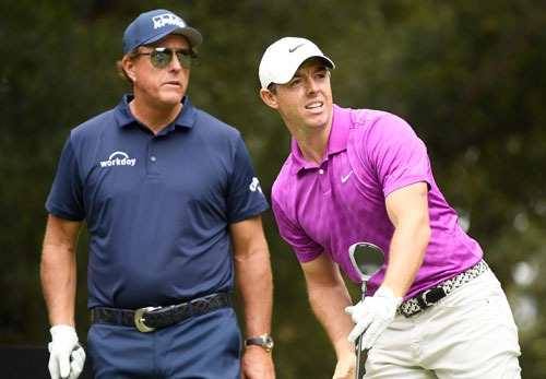 Phil Mickelson, Rory McIlroy